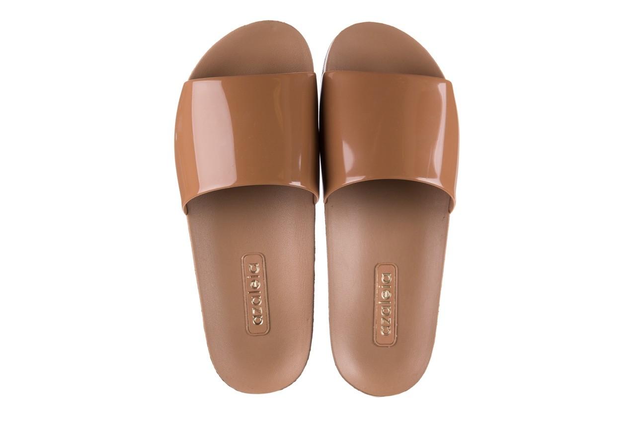 Klapki azaleia 290 195 capuccino, brąz, guma - gumowe/plastikowe - klapki - buty damskie - kobieta 10