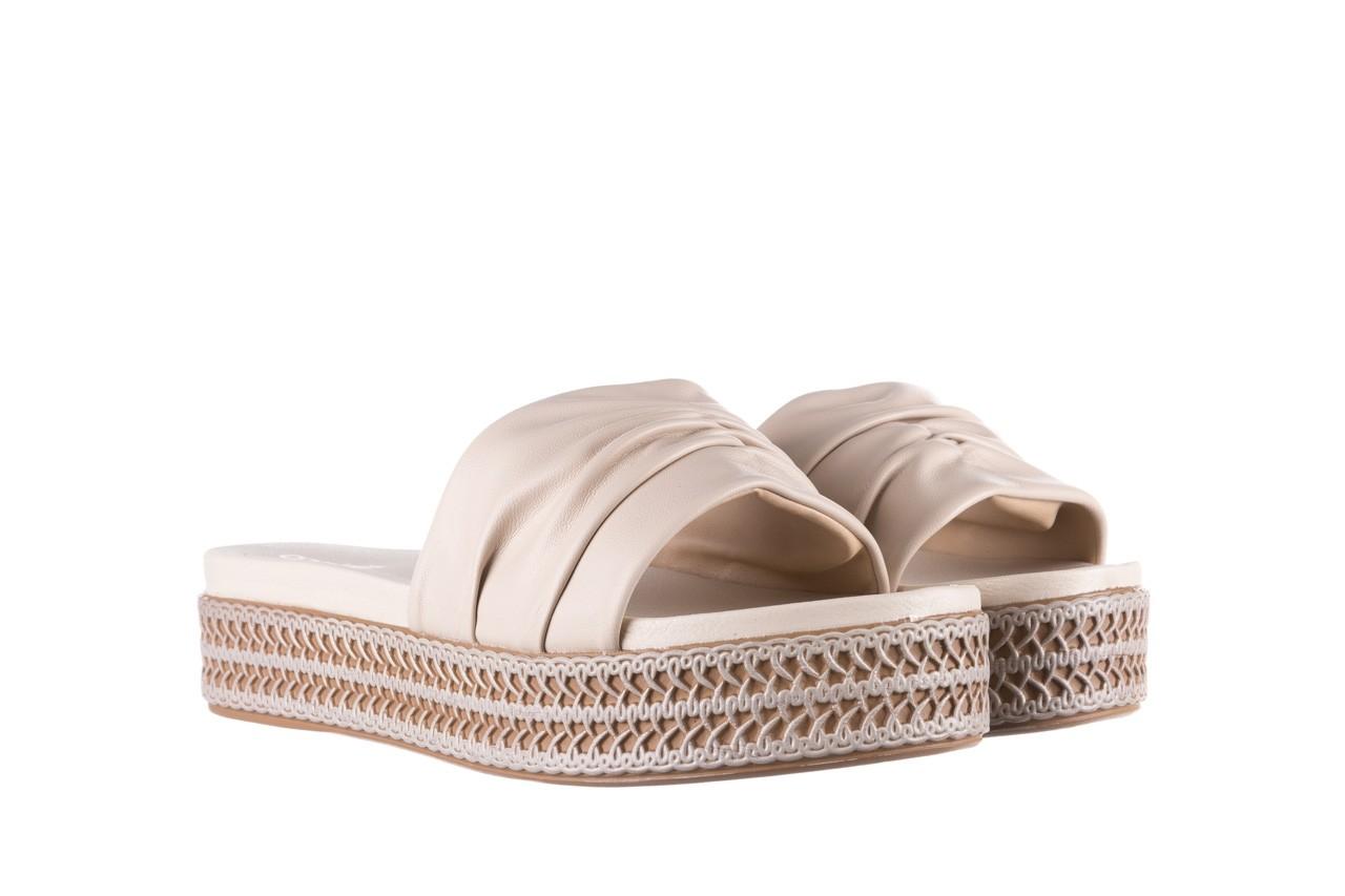Klapki azaleia 397 190 napa stretch ivory, beż, skóra ekologiczna  - klapki - buty damskie - kobieta 8