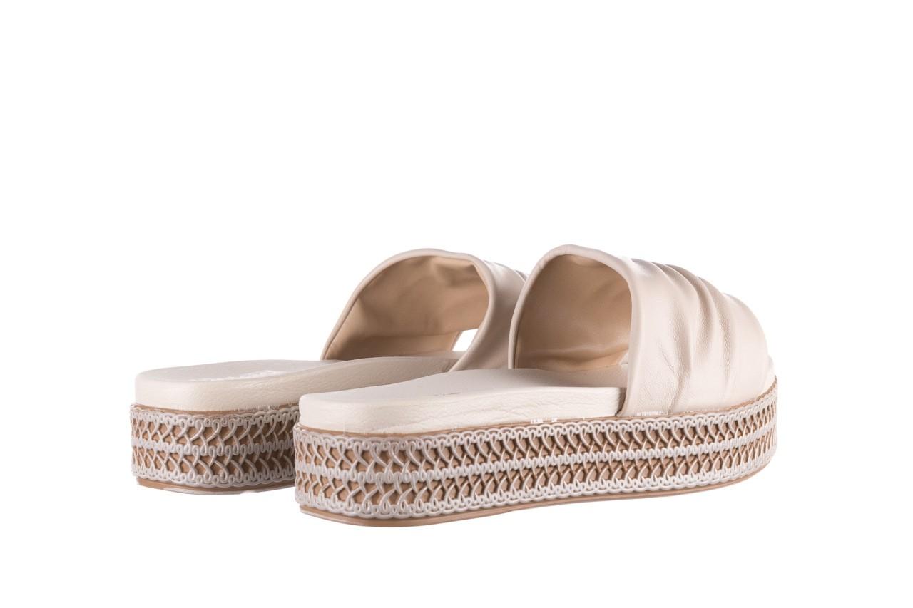 Klapki azaleia 397 190 napa stretch ivory, beż, skóra ekologiczna  - klapki - buty damskie - kobieta 10