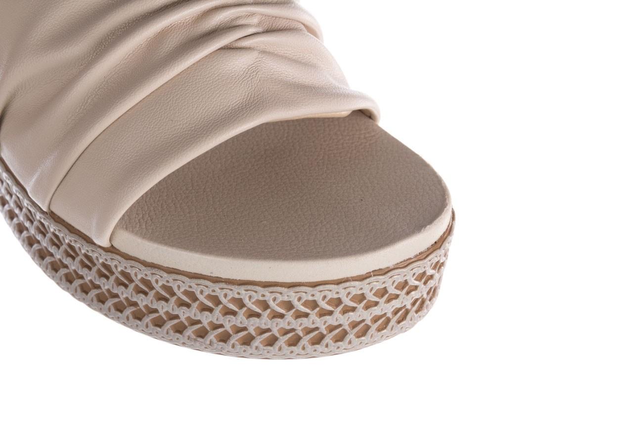 Klapki azaleia 397 190 napa stretch ivory, beż, skóra ekologiczna  - klapki - buty damskie - kobieta 12