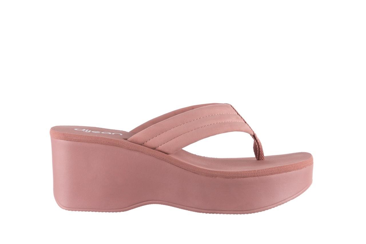 Klapki dijean 276 209 nobuck old pink, róż, materiał - gumowe/plastikowe - klapki - buty damskie - kobieta 7