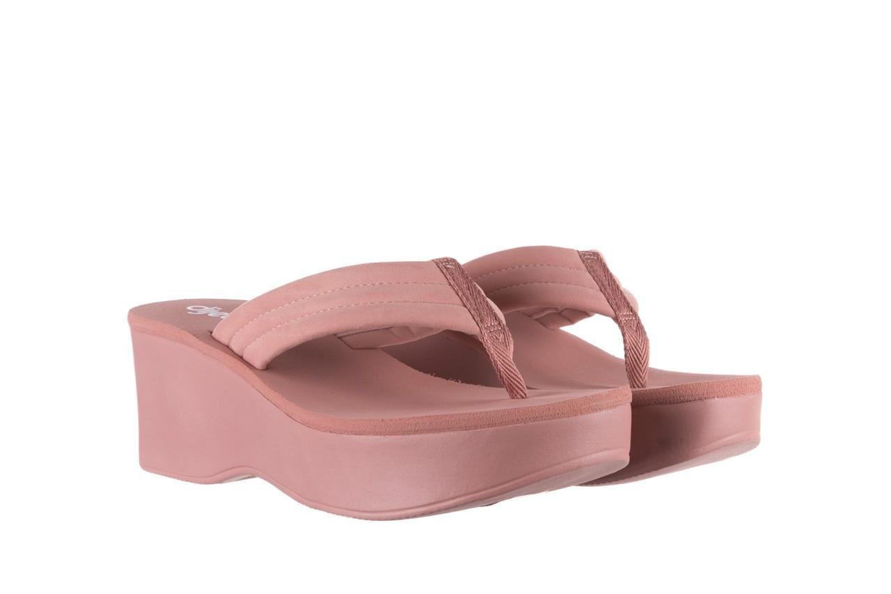 Klapki dijean 276 209 nobuck old pink, róż, materiał - gumowe/plastikowe - klapki - buty damskie - kobieta 8