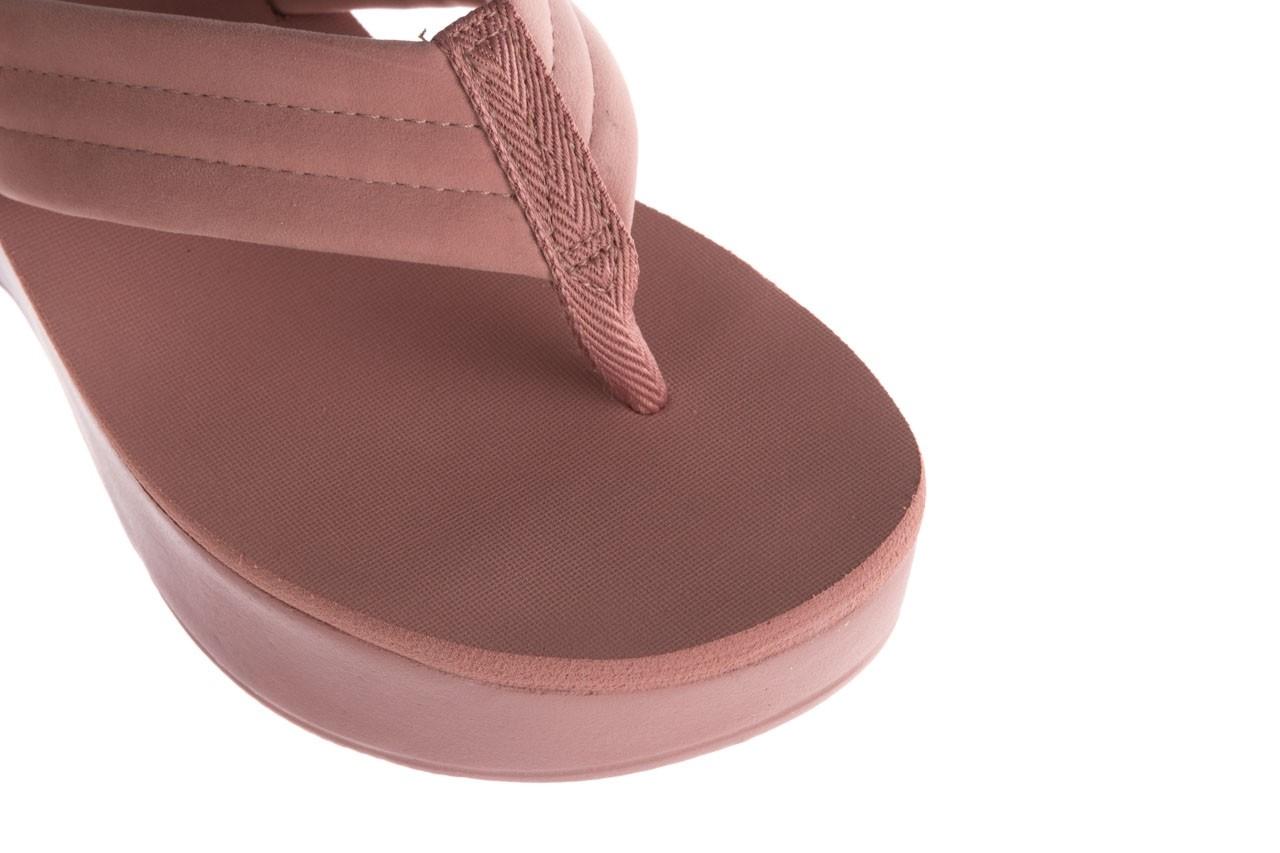 Klapki dijean 276 209 nobuck old pink, róż, materiał - gumowe/plastikowe - klapki - buty damskie - kobieta 12