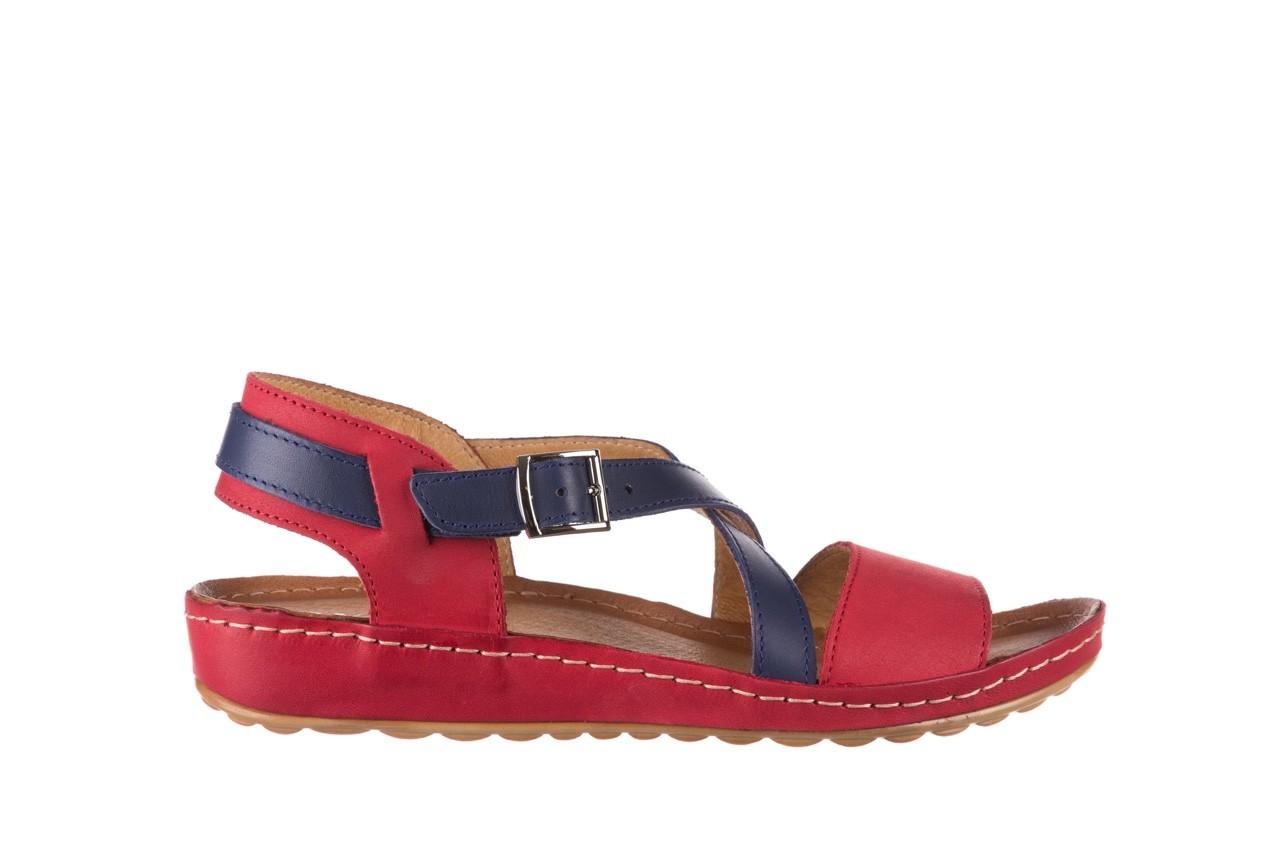 Sandały bayla-100 420 niebieski czerwony, skóra naturalna  - bayla - nasze marki 7
