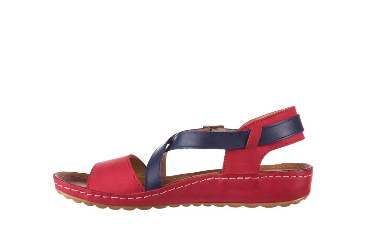 Sandały bayla-100 420 niebieski czerwony, skóra naturalna  - bayla - nasze marki 9