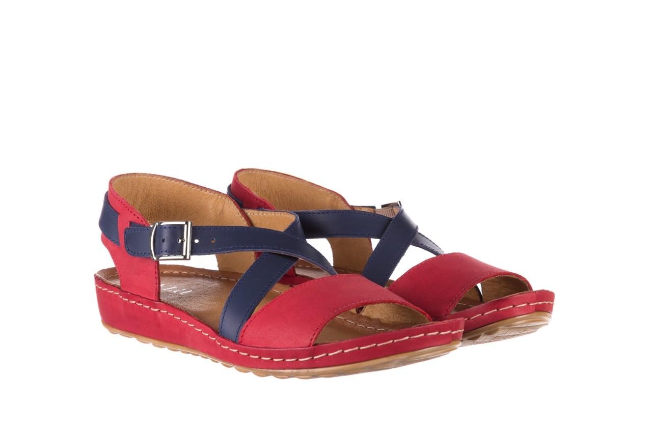 Sandały bayla-100 420 niebieski czerwony, skóra naturalna  - bayla - nasze marki 8