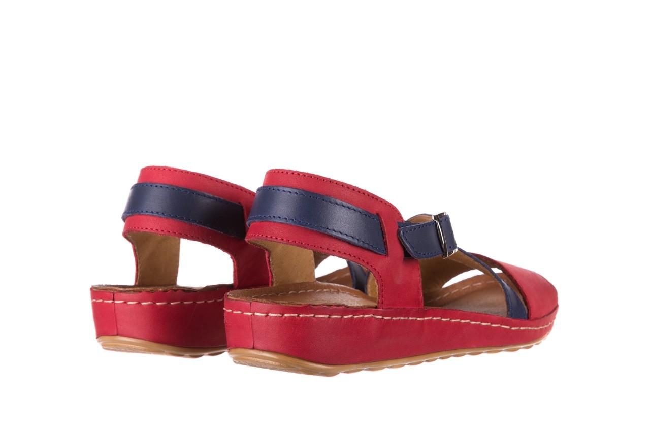 Sandały bayla-100 420 niebieski czerwony, skóra naturalna  - bayla - nasze marki 10