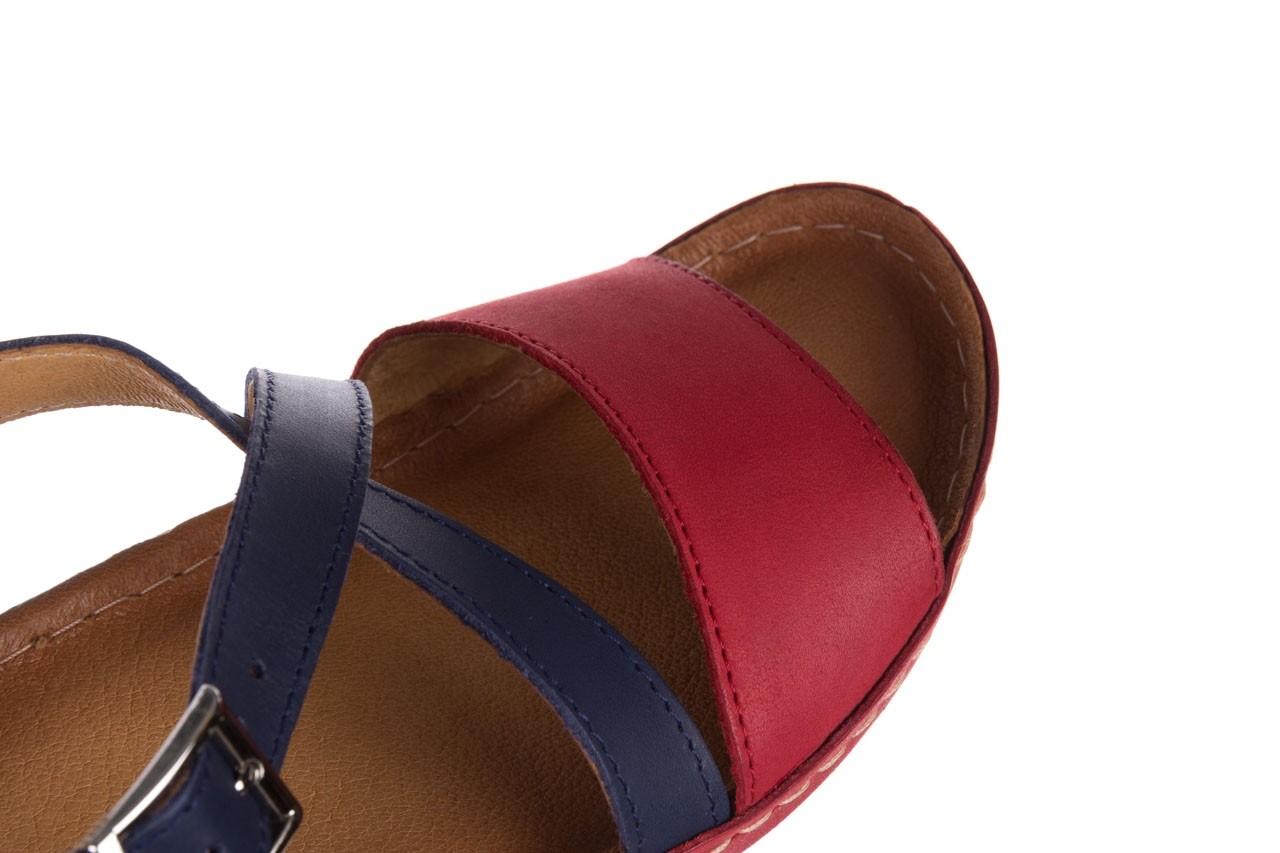 Sandały bayla-100 420 niebieski czerwony, skóra naturalna  - bayla - nasze marki 12
