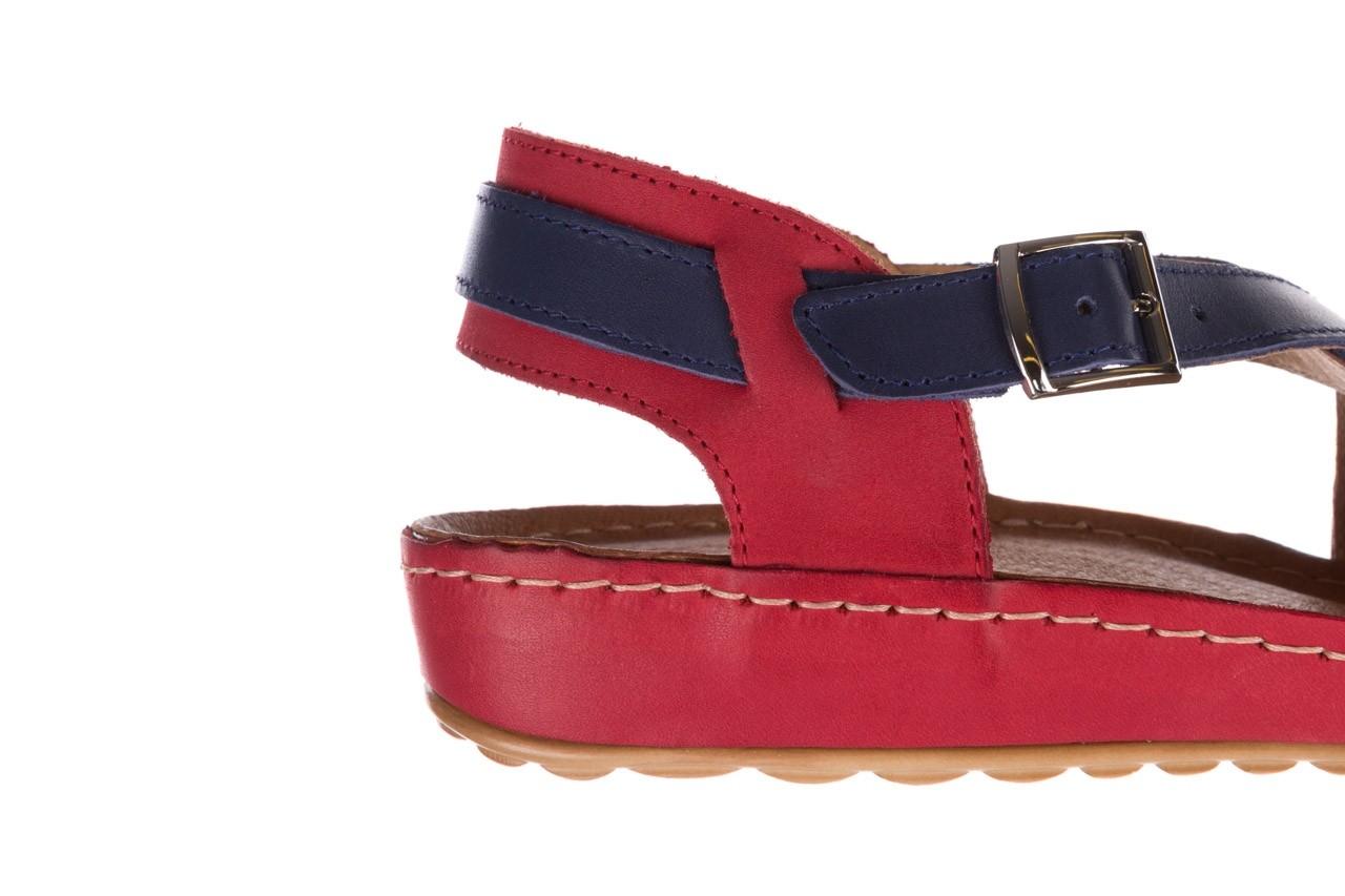 Sandały bayla-100 420 niebieski czerwony, skóra naturalna  - bayla - nasze marki 13