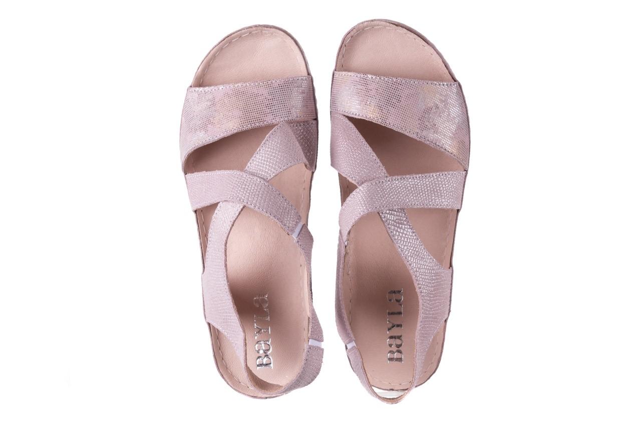 Sandały bayla-100 449 lila, skóra naturalna  - bayla - nasze marki 12