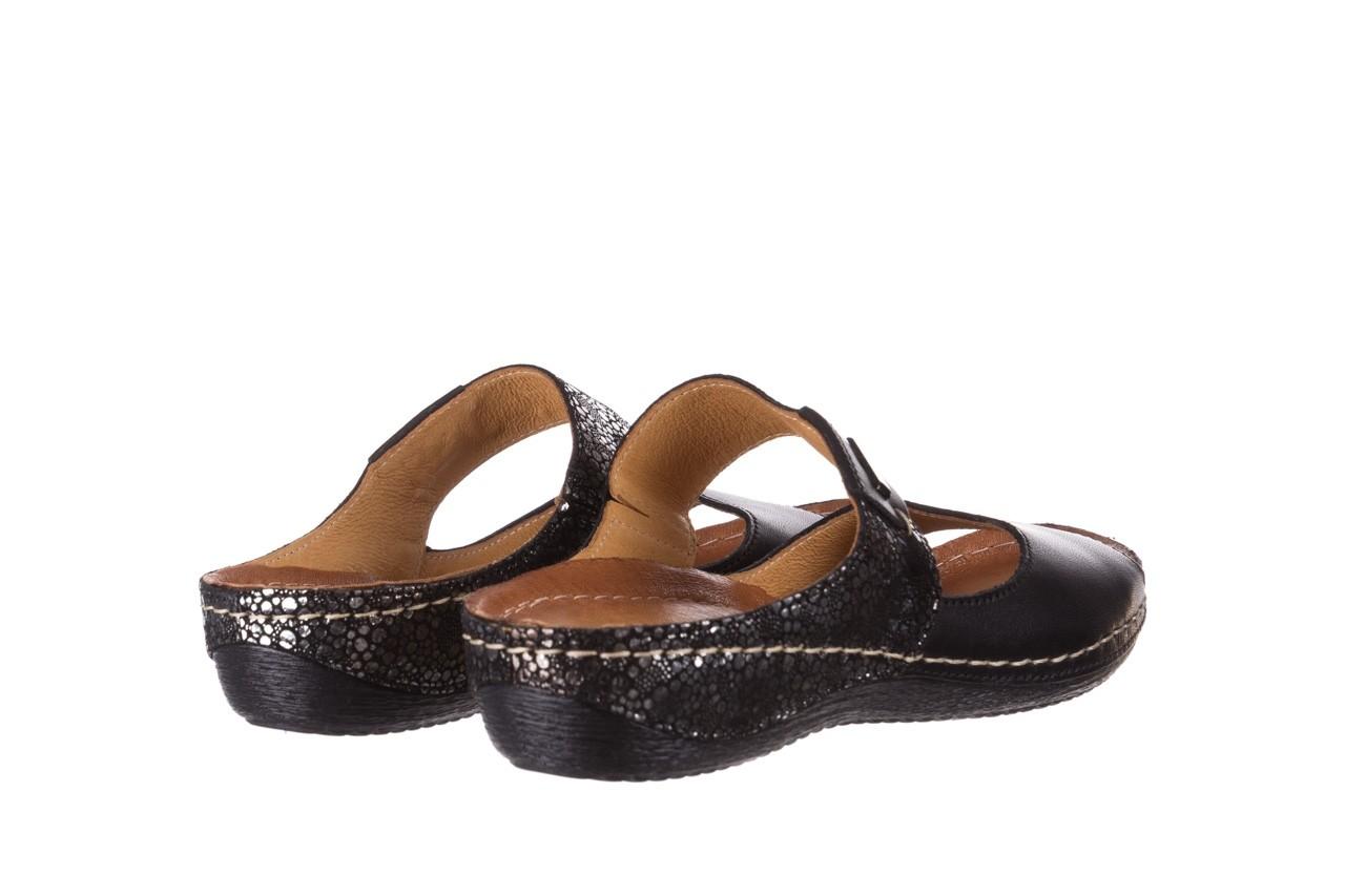 Klapki bayla-100 450 czarny, skóra naturalna 10
