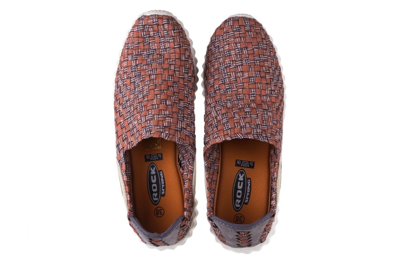 Półbuty rock alen dk orange pattern, pomarańczowy, materiał  - rock - nasze marki 11