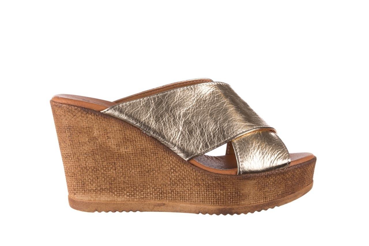Koturny bayla-179 9104 złoty, skóra naturalna  - koturny - buty damskie - kobieta 7