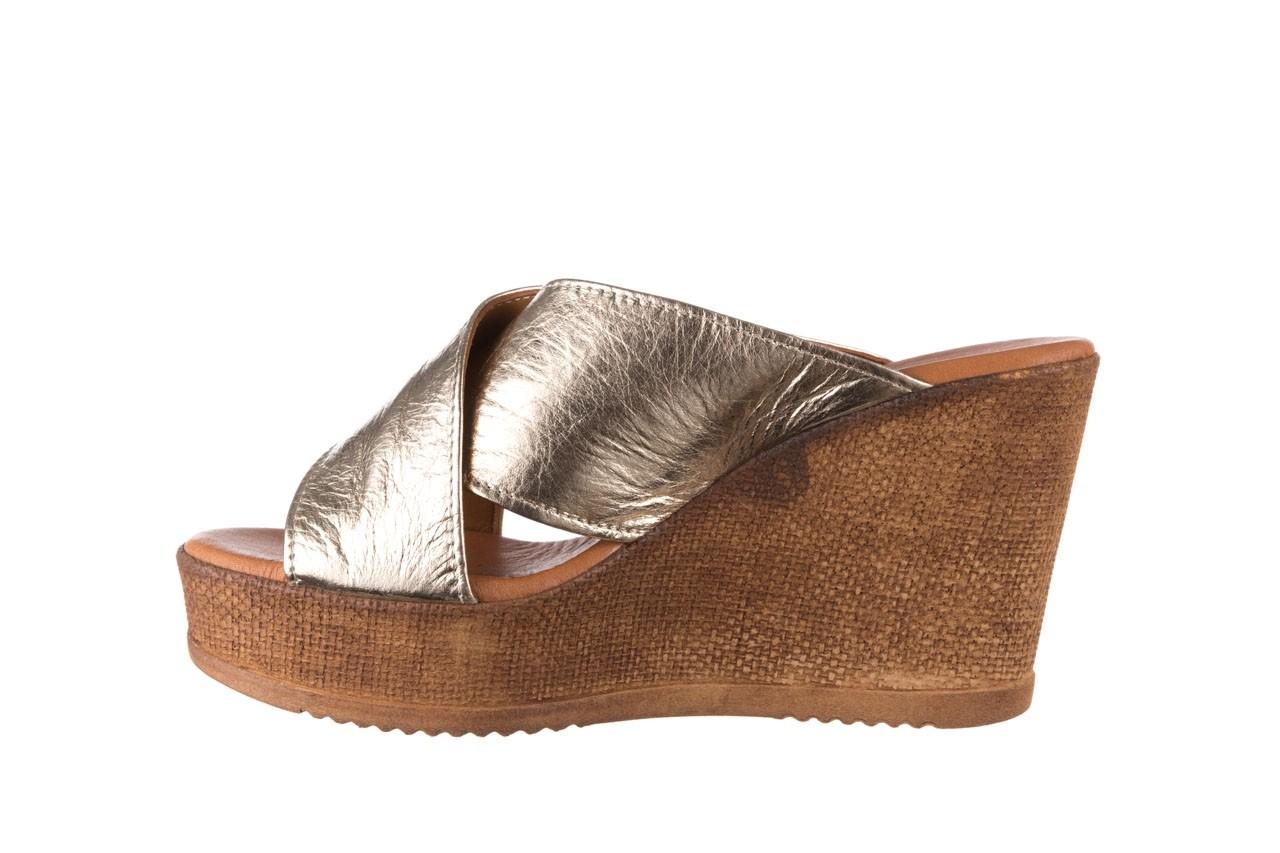 Koturny bayla-179 9104 złoty, skóra naturalna  - koturny - buty damskie - kobieta 9