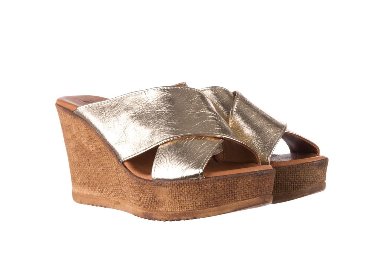 Koturny bayla-179 9104 złoty, skóra naturalna  - koturny - buty damskie - kobieta 8