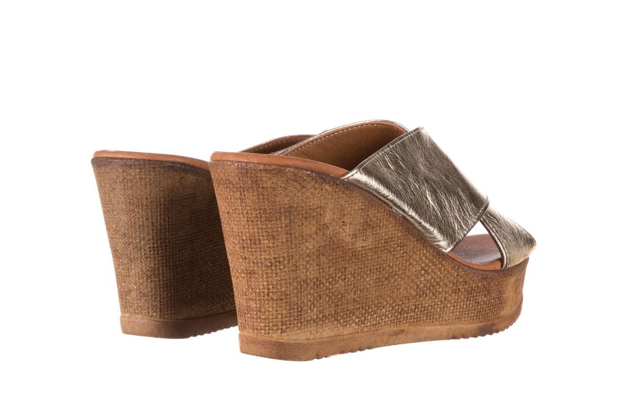 Koturny bayla-179 9104 złoty, skóra naturalna  - koturny - buty damskie - kobieta 10