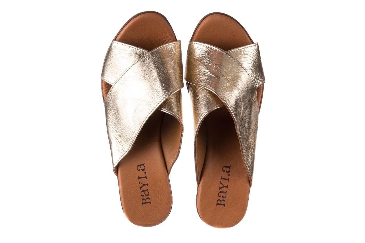 Koturny bayla-179 9104 złoty, skóra naturalna  - koturny - buty damskie - kobieta 11