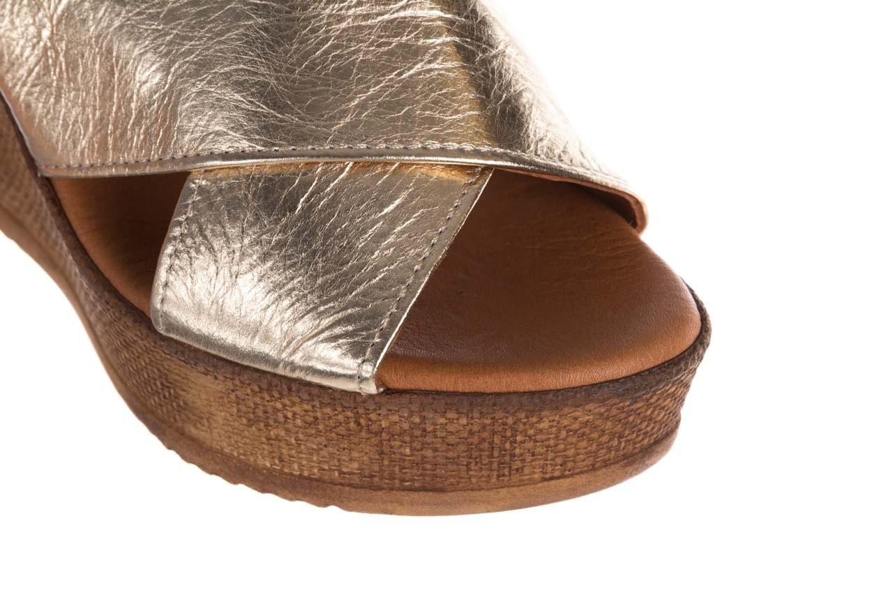 Koturny bayla-179 9104 złoty, skóra naturalna  - koturny - buty damskie - kobieta 12