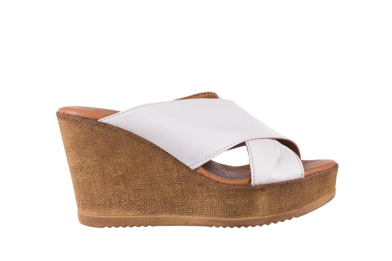 Koturny bayla-179 9104 biały, skóra naturalna  - koturny - buty damskie - kobieta 7