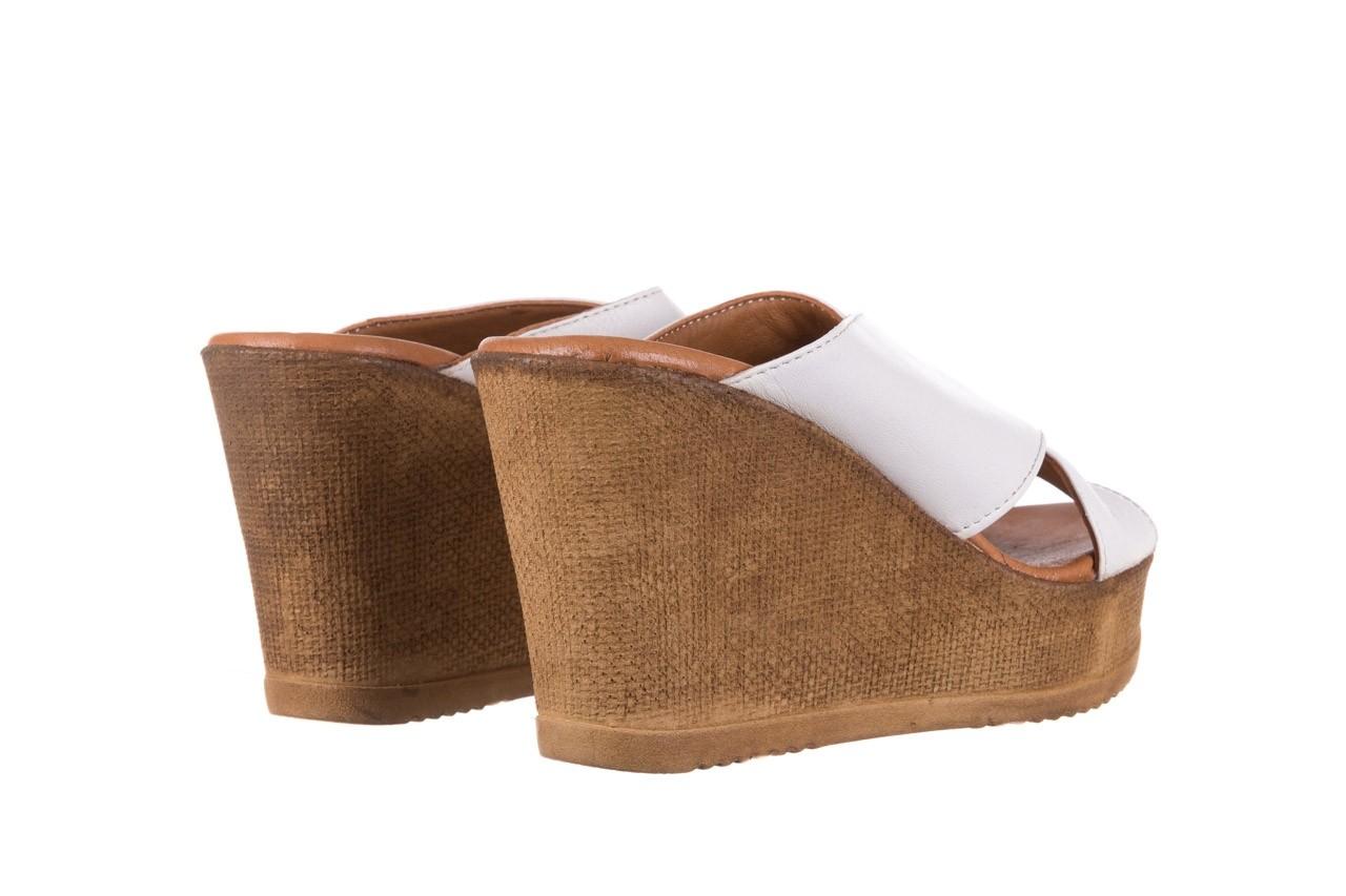 Koturny bayla-179 9104 biały, skóra naturalna  - koturny - buty damskie - kobieta 10