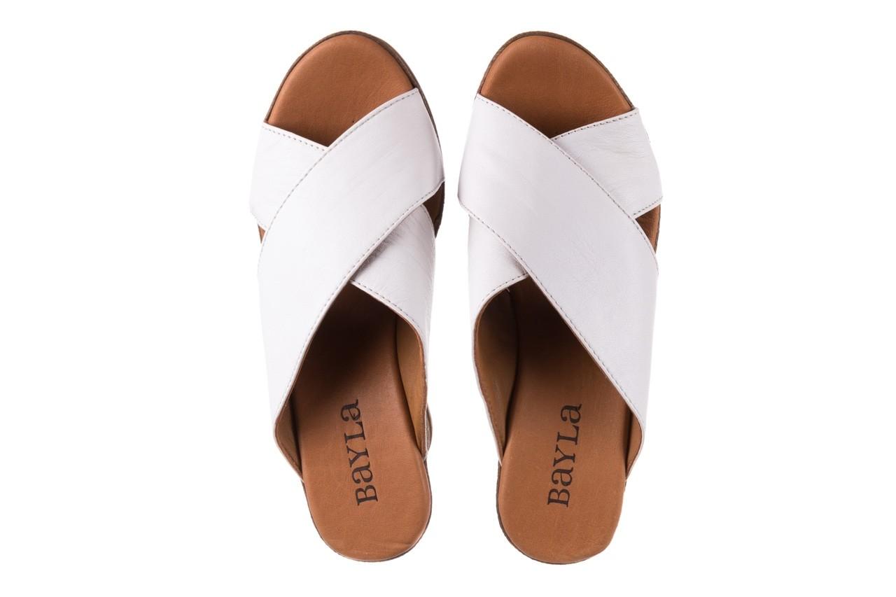Koturny bayla-179 9104 biały, skóra naturalna  - koturny - buty damskie - kobieta 11