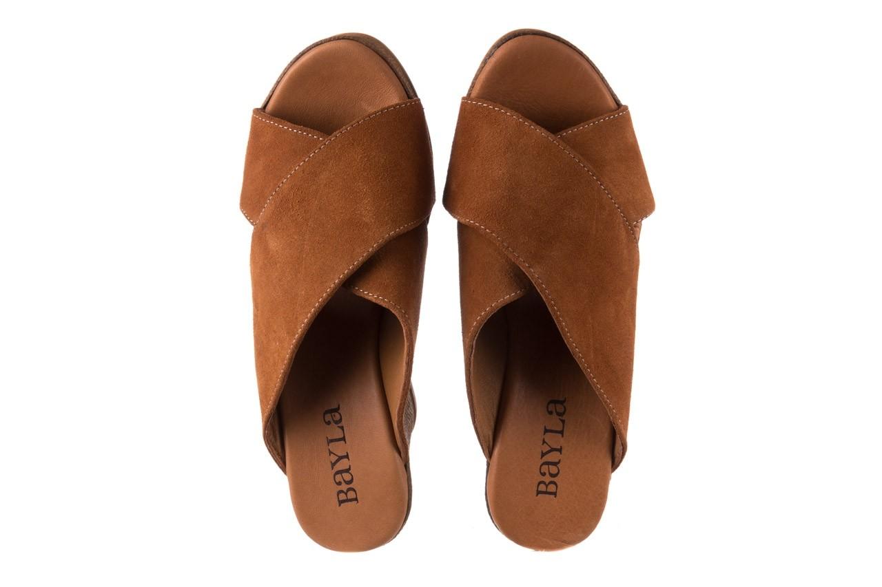Koturny bayla-179 9104 brąz zamsz, skóra naturalna  - koturny - buty damskie - kobieta 11
