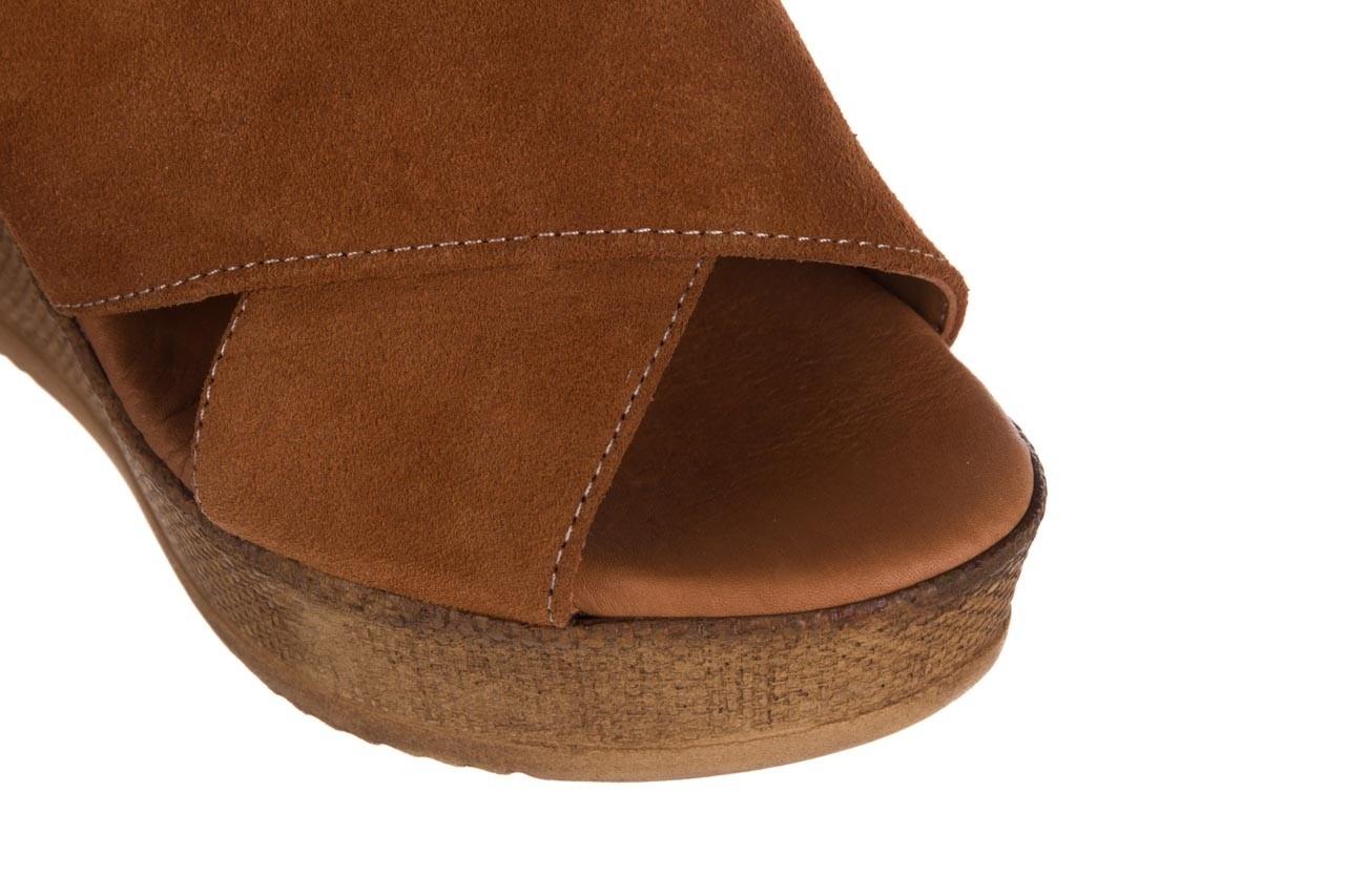 Koturny bayla-179 9104 brąz zamsz, skóra naturalna  - koturny - buty damskie - kobieta 12