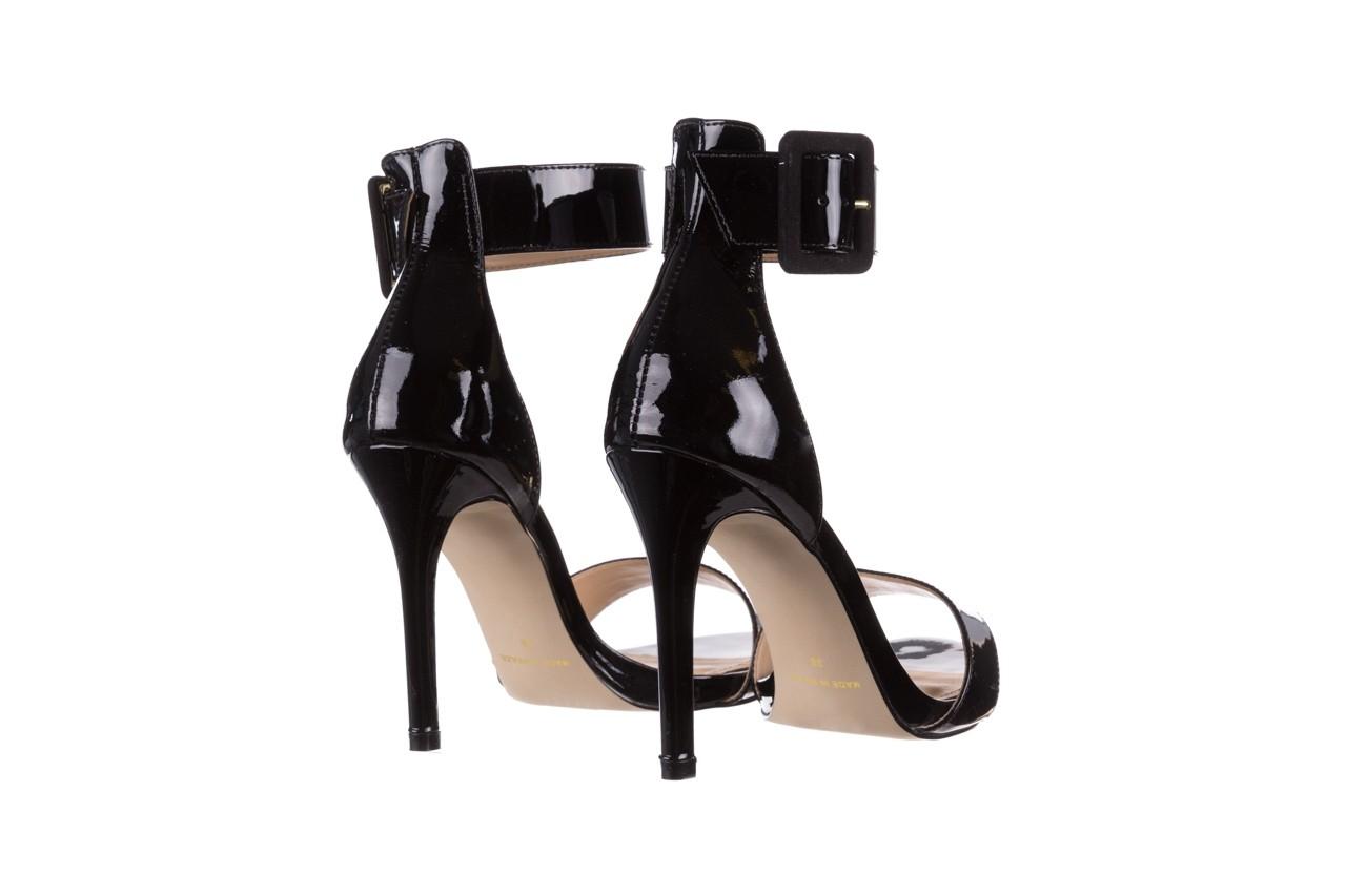 Sandały bayla-065 6189496 czarny, skóra naturalna lakierowana - na obcasie - sandały - buty damskie - kobieta 10
