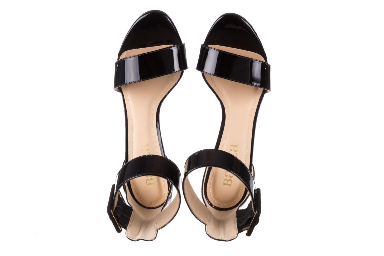 Sandały bayla-065 6189496 czarny, skóra naturalna lakierowana - na obcasie - sandały - buty damskie - kobieta 11