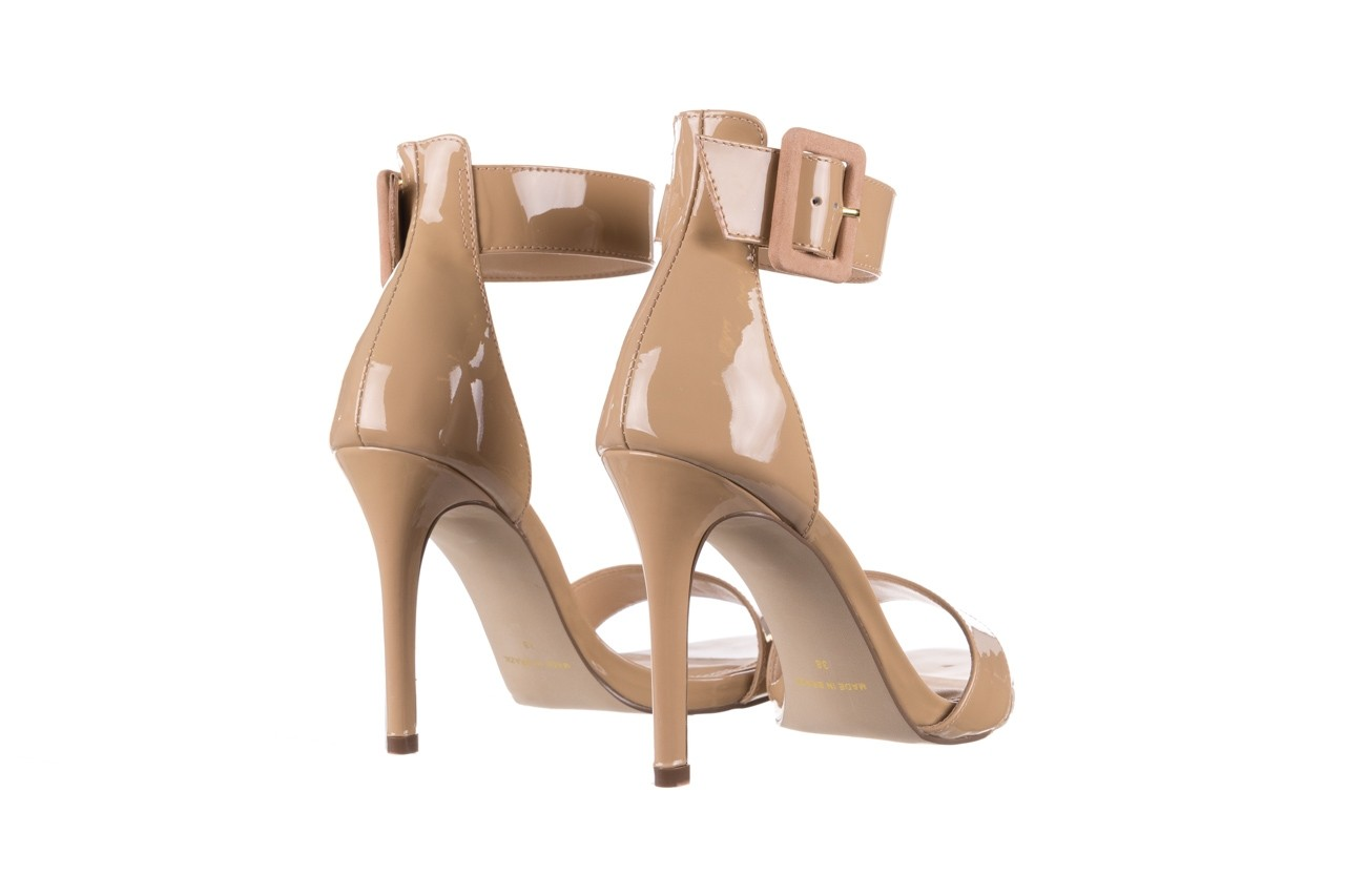 Sandały bayla-065 6189496 beż, skóra naturalna lakierowana 10