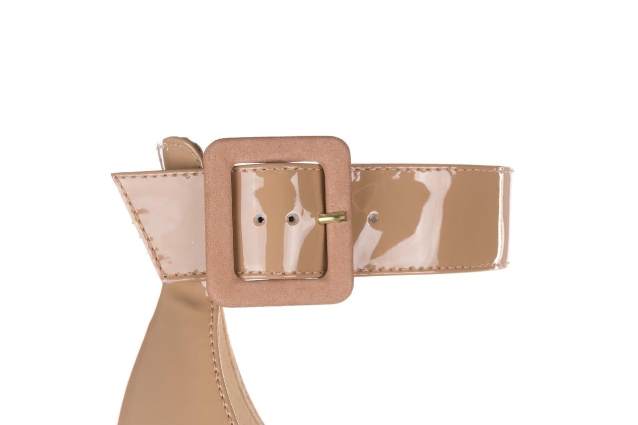 Sandały bayla-065 6189496 beż, skóra naturalna lakierowana 13