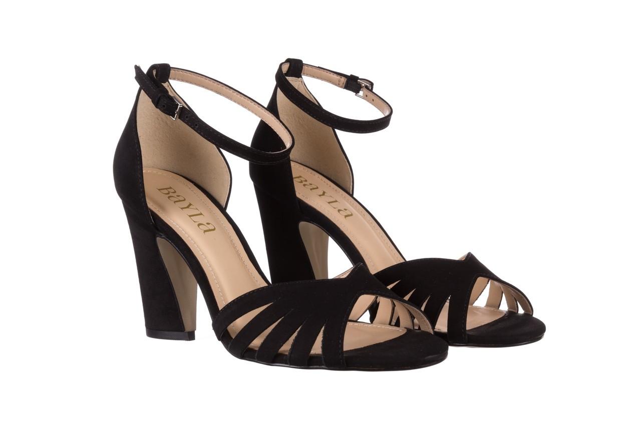 Sandały bayla-065 6140138 czarny, skóra naturalna  - rozmiar 36 - kobieta - mega okazje - ostatnie rozmiary 8