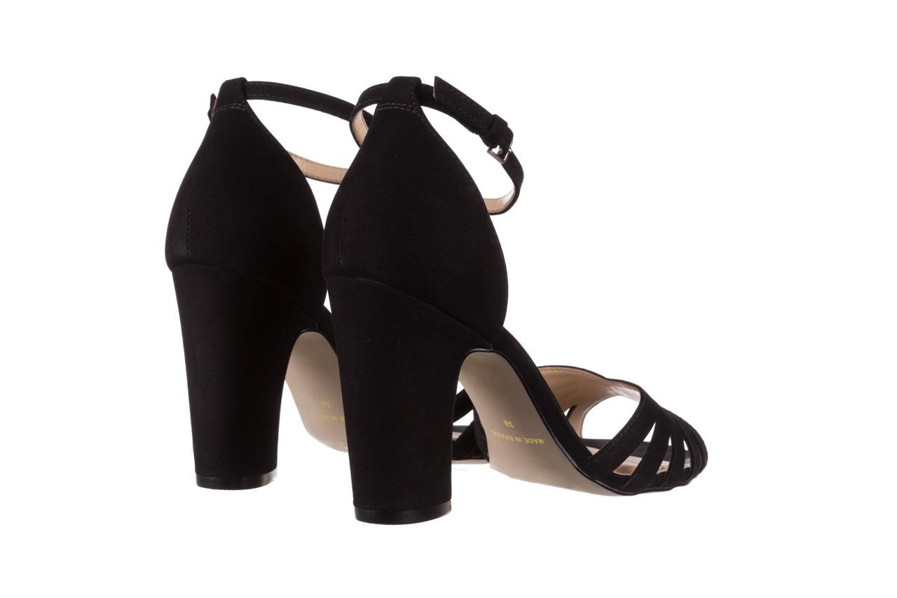 Sandały bayla-065 6140138 czarny, skóra naturalna  - rozmiar 36 - kobieta - mega okazje - ostatnie rozmiary 10