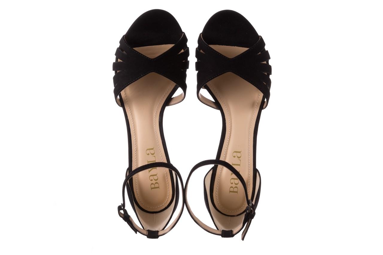 Sandały bayla-065 6140138 czarny, skóra naturalna  - rozmiar 36 - kobieta - mega okazje - ostatnie rozmiary 11