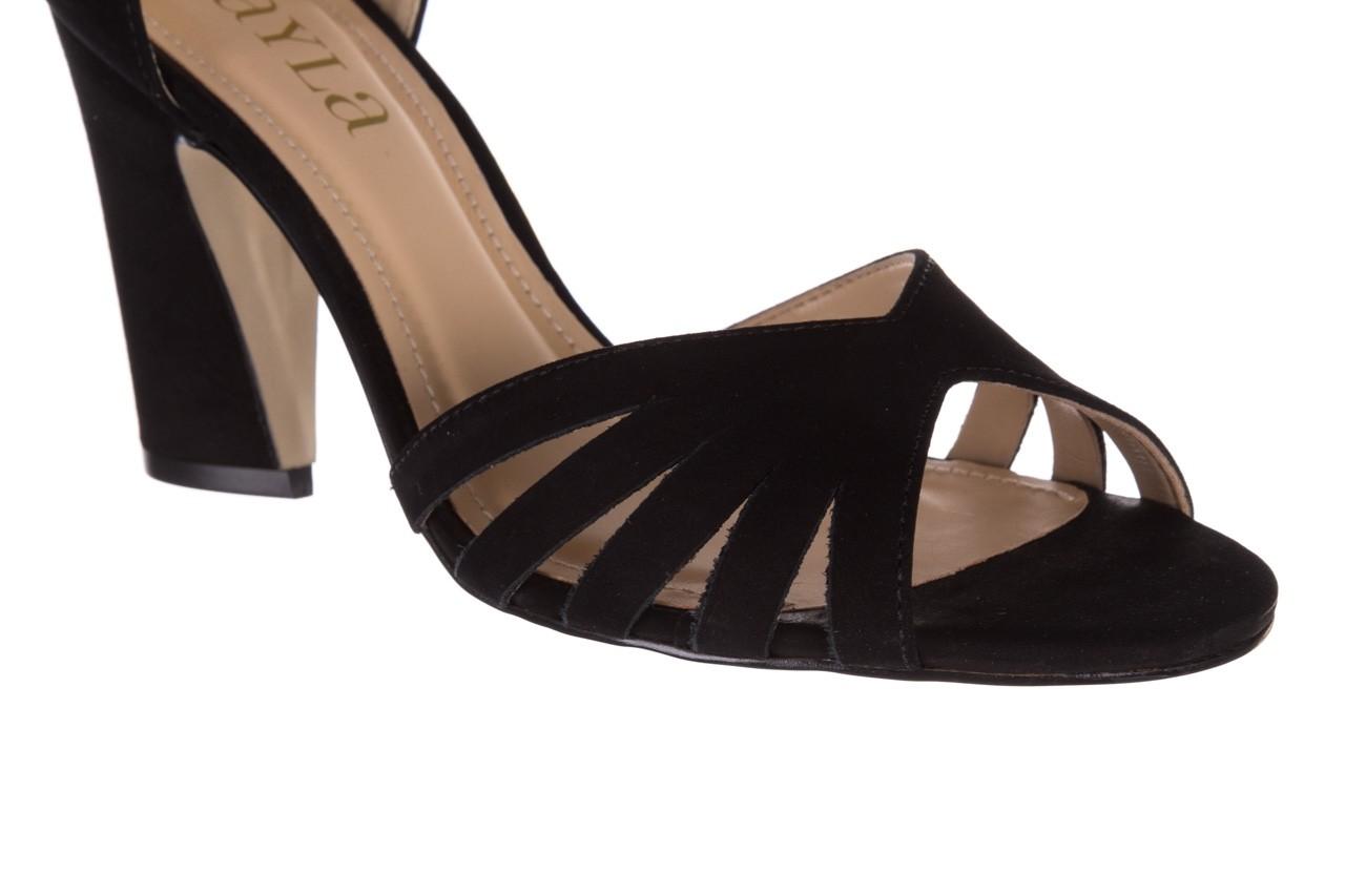 Sandały bayla-065 6140138 czarny, skóra naturalna  - rozmiar 36 - kobieta - mega okazje - ostatnie rozmiary 12