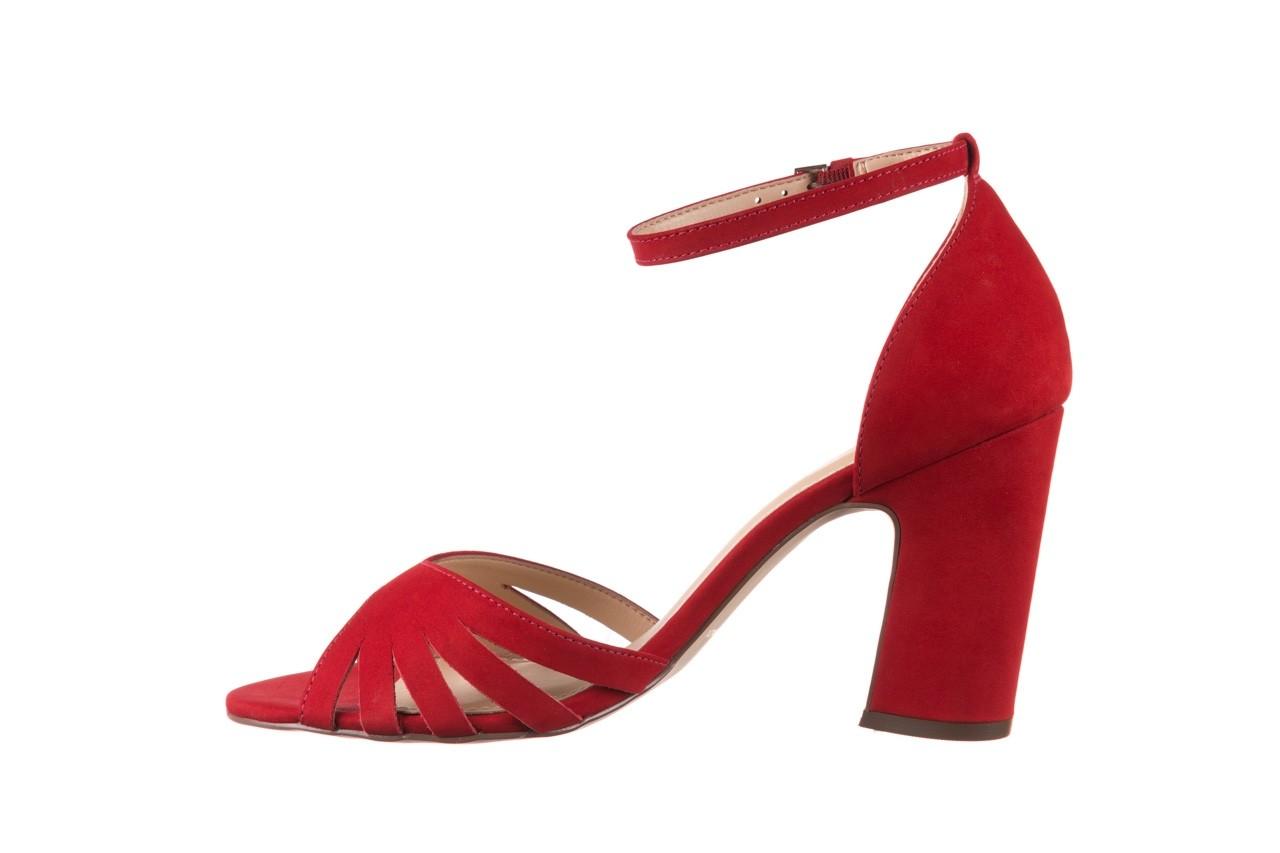 Sandały bayla-065 6140138 czerwony, skóra naturalna  - bayla - nasze marki 9