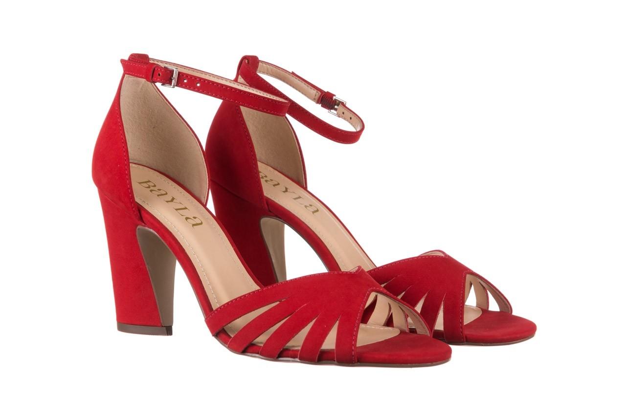 Sandały bayla-065 6140138 czerwony, skóra naturalna  - bayla - nasze marki 8