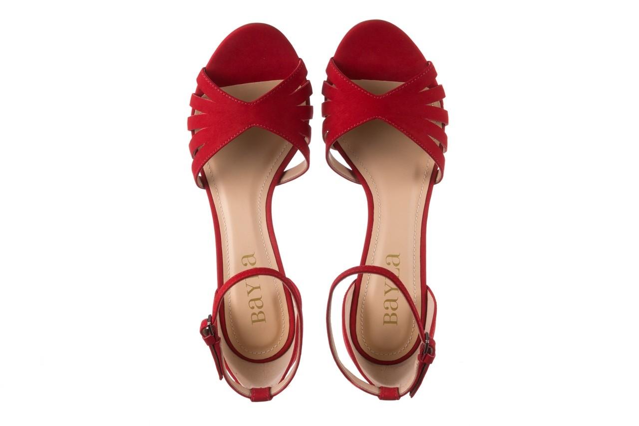Sandały bayla-065 6140138 czerwony, skóra naturalna  - bayla - nasze marki 11