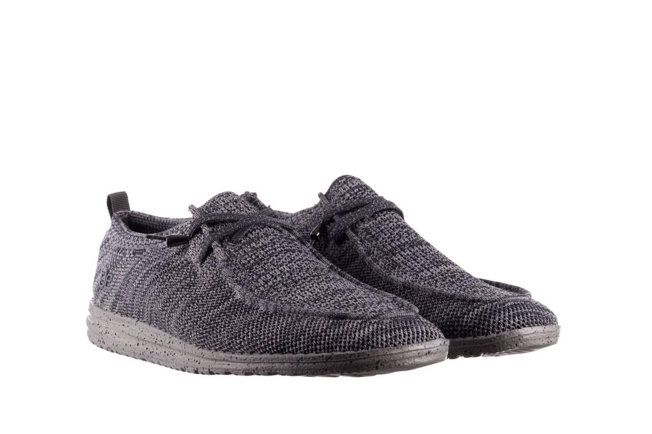 Półbuty heydude wally knit multi grey, granat/ szary, materiał  - trendy - mężczyzna 8