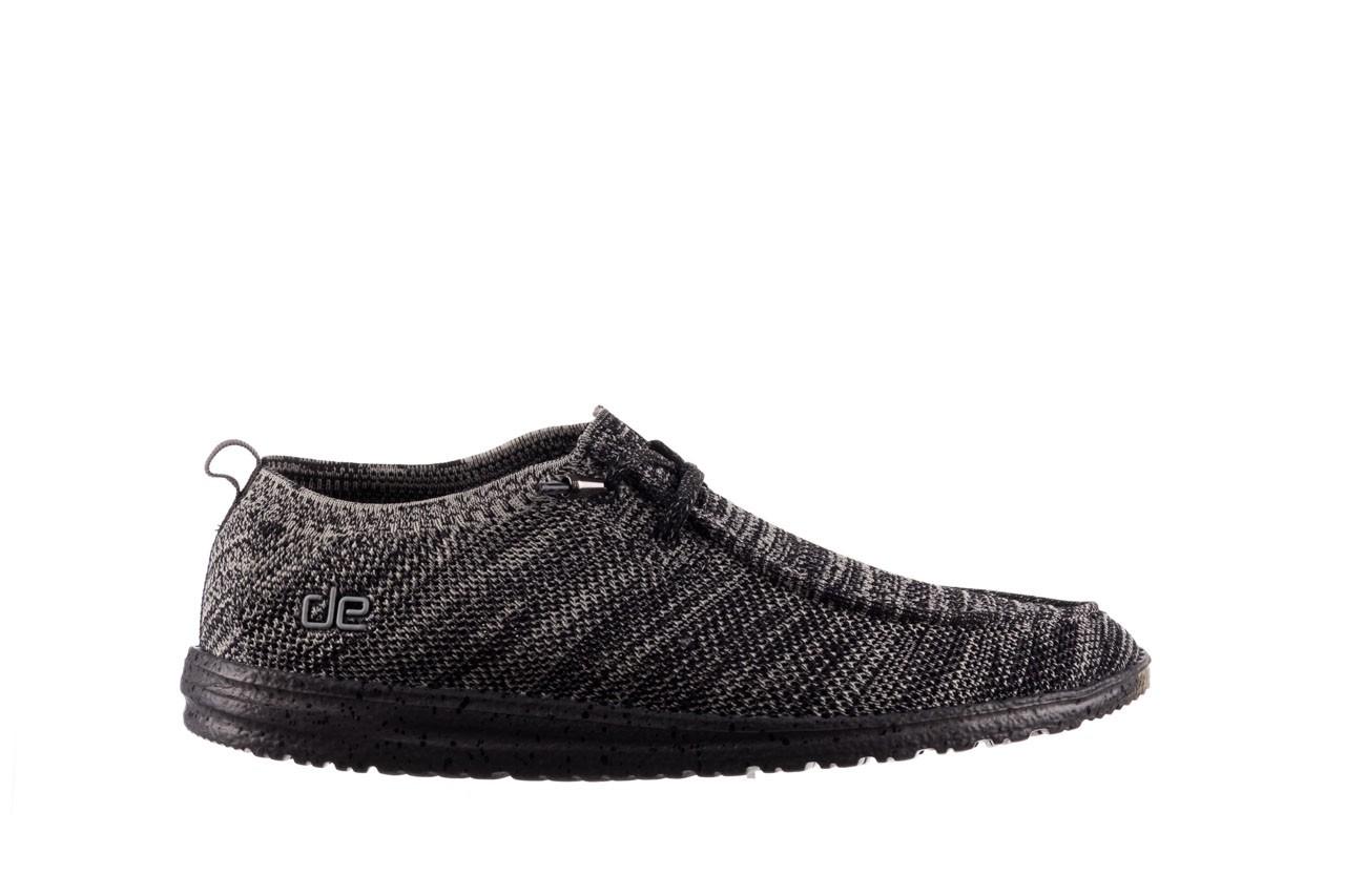 Półbuty heydude wally knit black white, czarny/ biały, materiał - trendy - mężczyzna 7