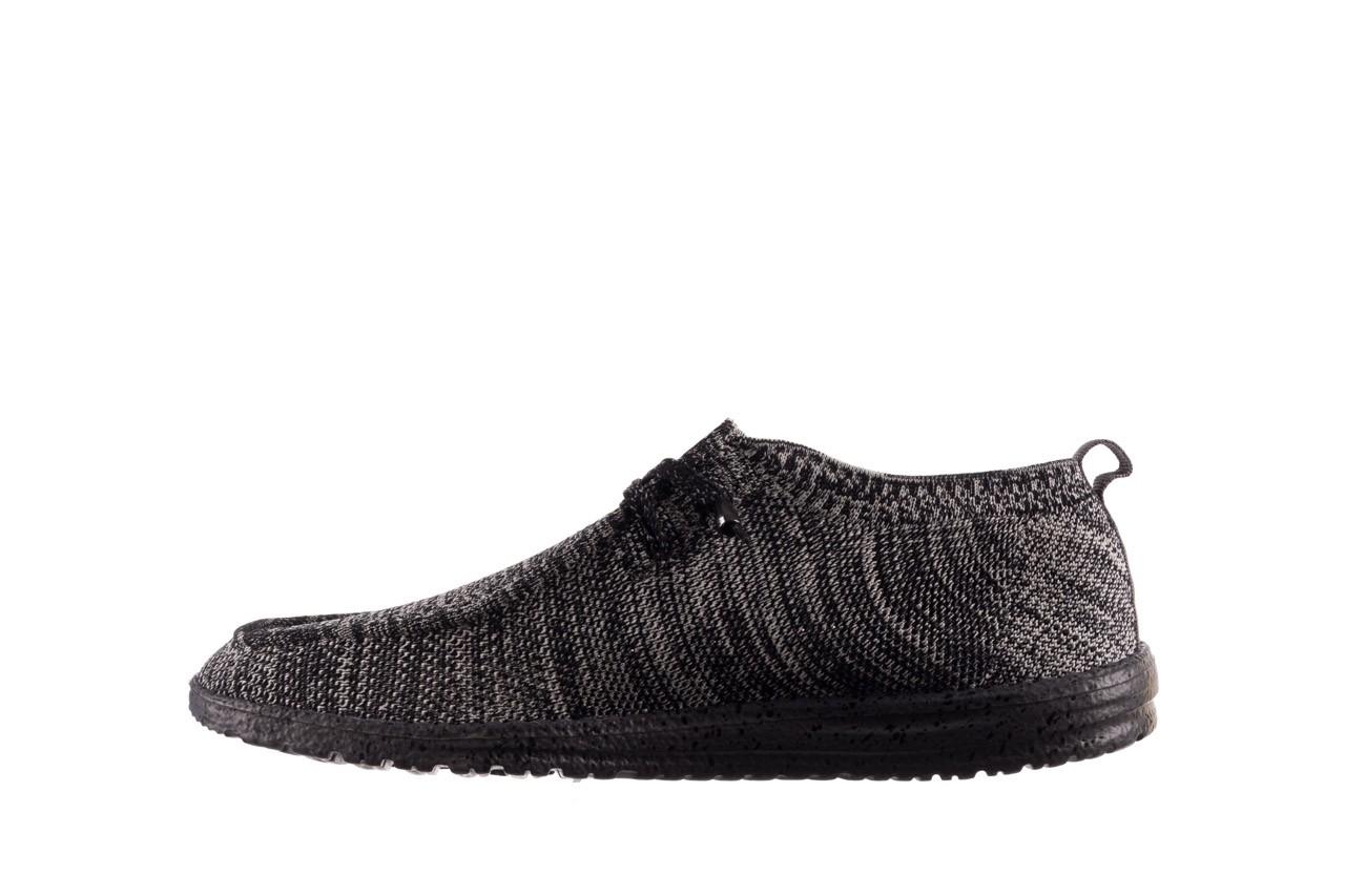 Półbuty heydude wally knit black white, czarny/ biały, materiał - trendy - mężczyzna 9