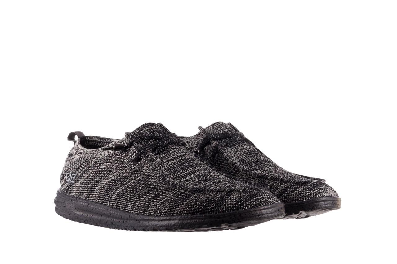 Półbuty heydude wally knit black white, czarny/ biały, materiał - trendy - mężczyzna 8