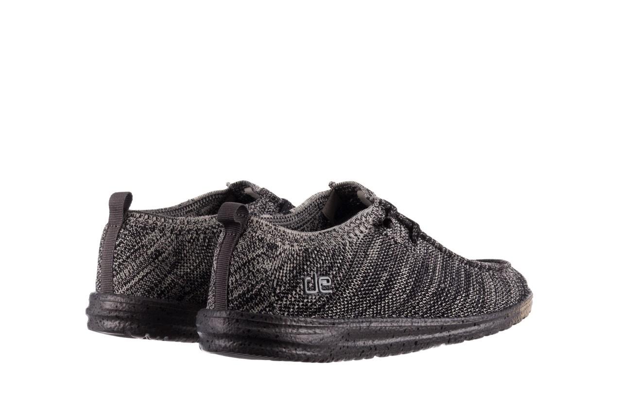 Półbuty heydude wally knit black white, czarny/ biały, materiał - trendy - mężczyzna 10