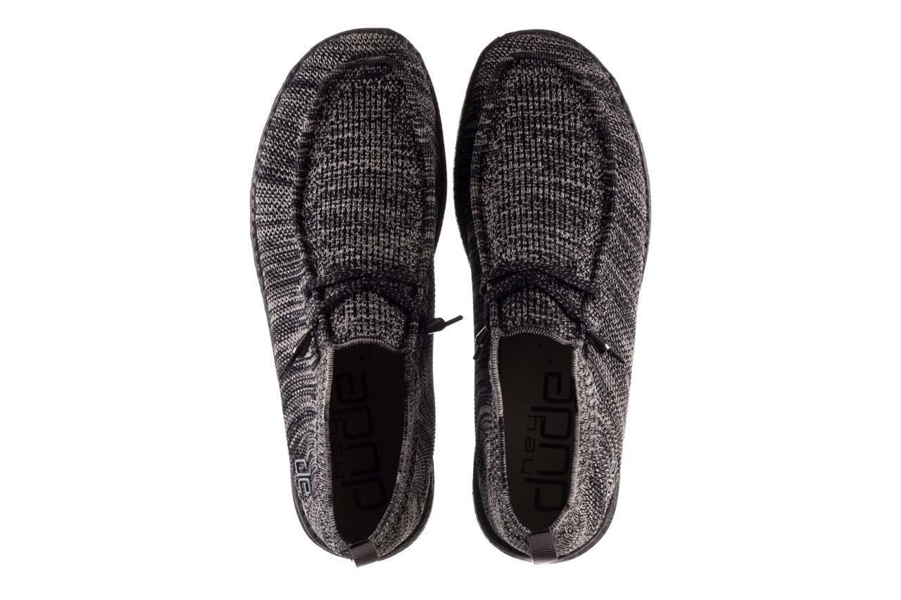 Półbuty heydude wally knit black white, czarny/ biały, materiał - trendy - mężczyzna 11