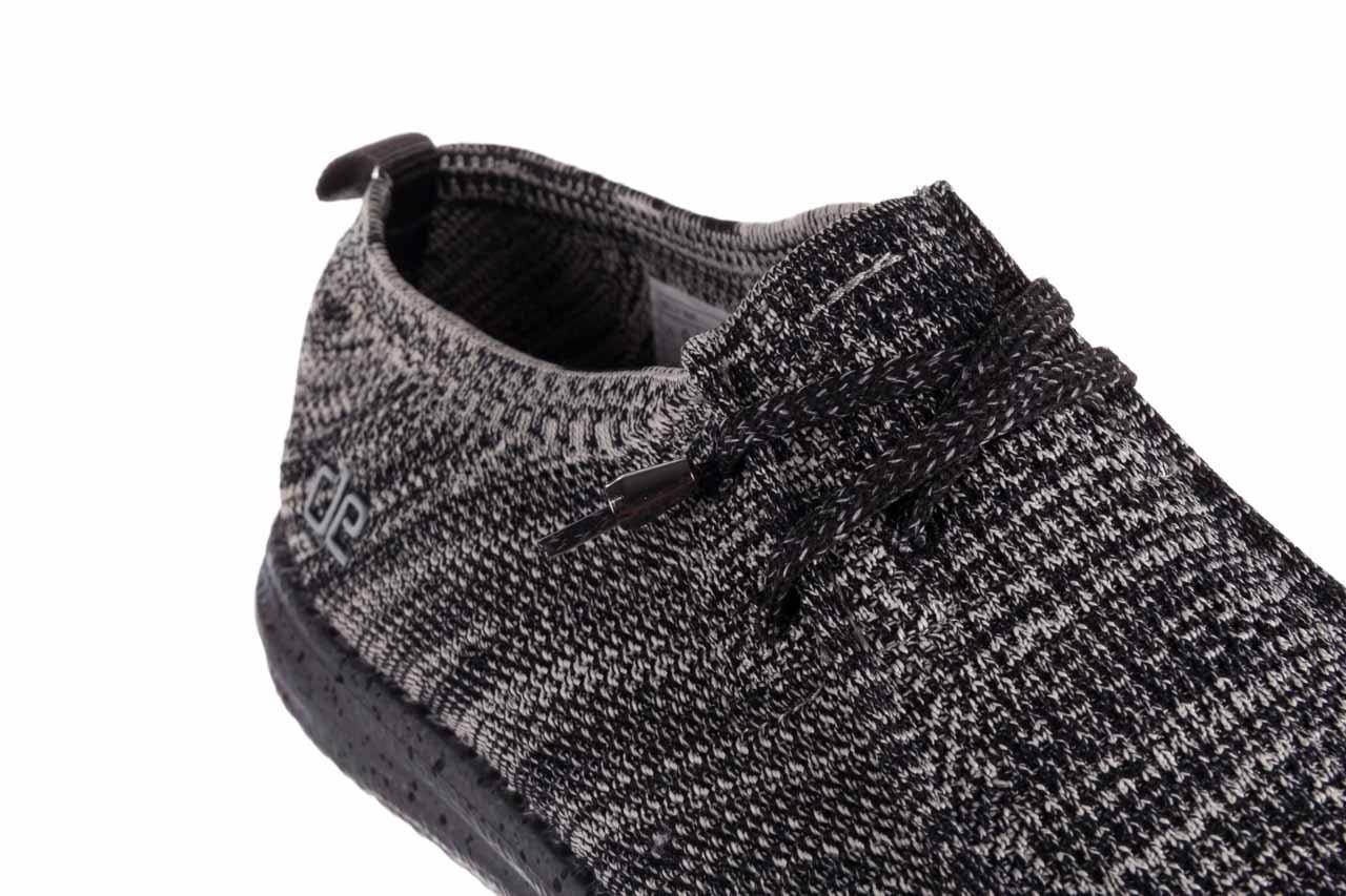 Półbuty heydude wally knit black white, czarny/ biały, materiał - trendy - mężczyzna 12