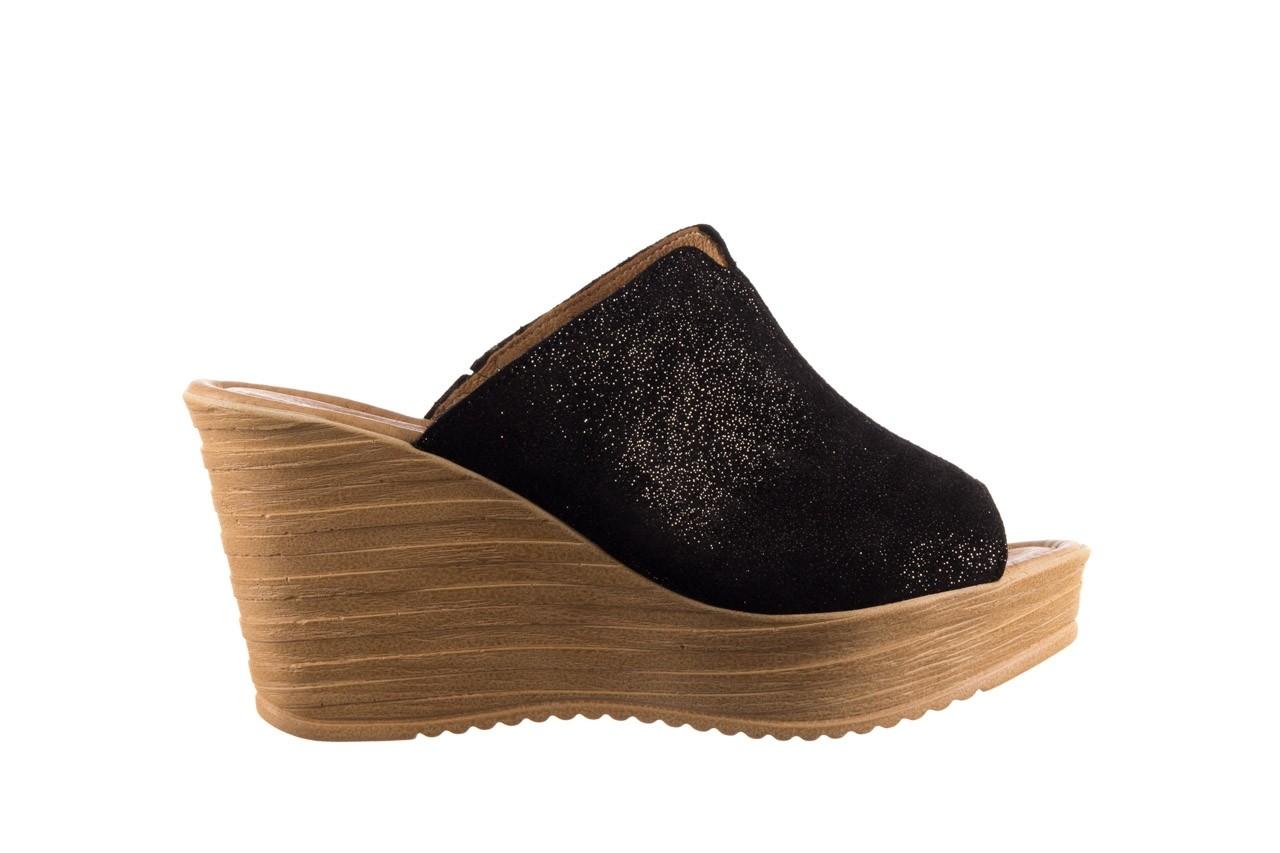 Koturny bayla-100 490 czarny, skóra naturalna  - koturny - dla niej  - sale 7