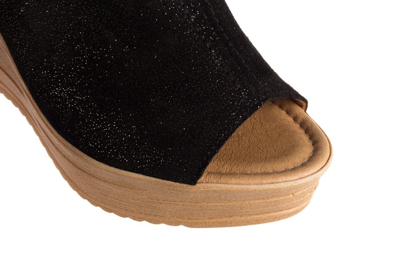 Koturny bayla-100 490 czarny, skóra naturalna  - koturny - dla niej  - sale 12