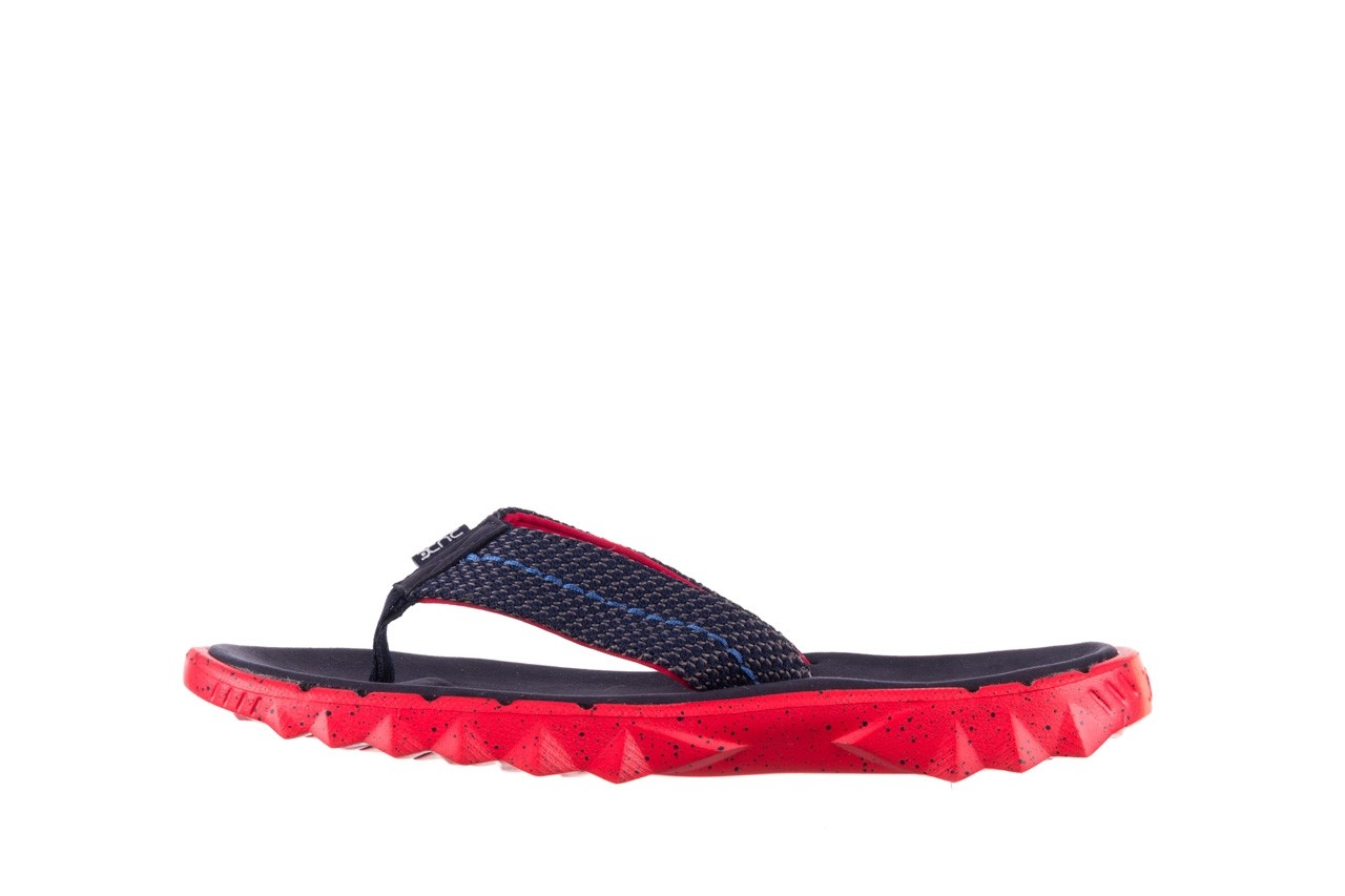 Klapki heydude sava sox blue red, czerwony/ granat, materiał - klapki - buty męskie - mężczyzna 9