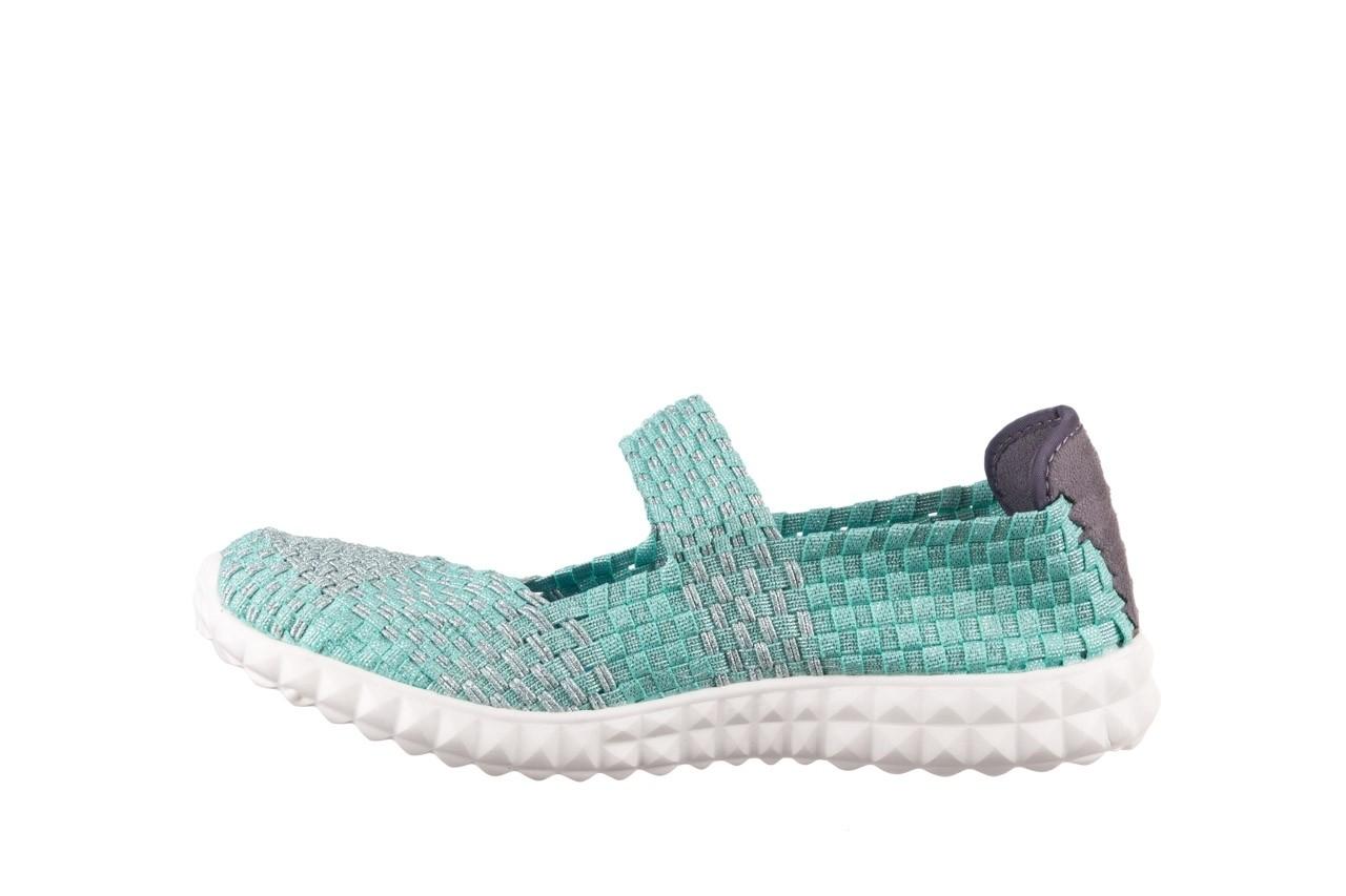 Półbuty rock nyc met mint 20, miętowy/ srebrny, materiał - sandały - buty damskie - kobieta 10