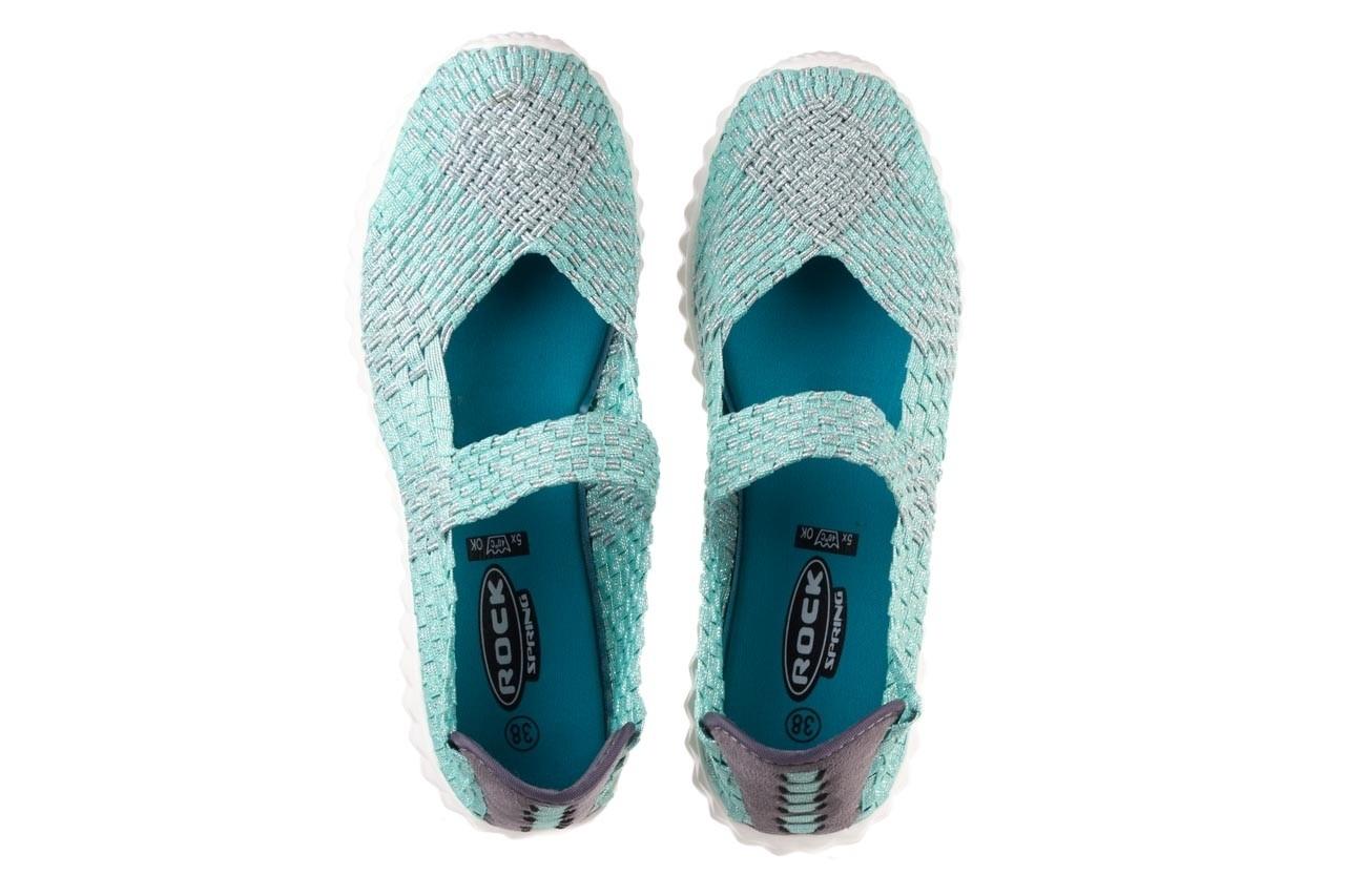 Półbuty rock nyc met mint 20, miętowy/ srebrny, materiał - sandały - buty damskie - kobieta 12
